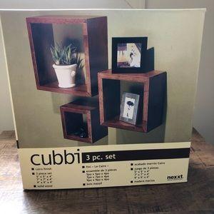 3 pcs hanging cubby set